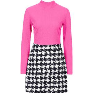 BODYFLIRT Shirtkleid langarm in pink von bonprix