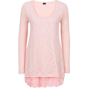 BODYFLIRT Shirt in Strickoptik langarm in pink für Damen von bonprix
