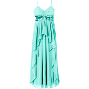 BODYFLIRT Abendkleid ohne Ärmel in grün (V-Ausschnitt) von bonprix
