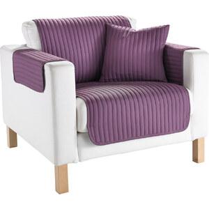 bpc living Sofaüberwurf Streifen in lila von bonprix