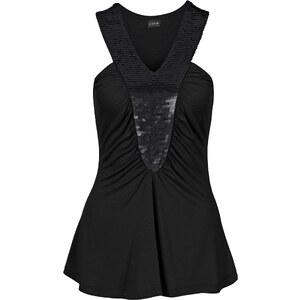 BODYFLIRT Top mit Pailletten in schwarz für Damen von bonprix