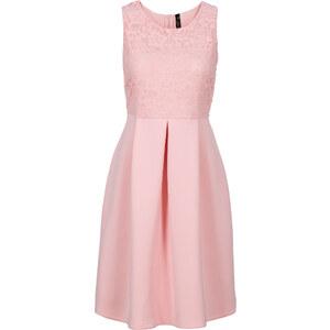 BODYFLIRT boutique Kleid in Scubaoptik in rosa von bonprix