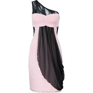 BODYFLIRT One-Shoulder-Kleid ohne Ärmel in schwarz von bonprix