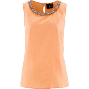 bpc selection premium Premium Blusen-Top aus Leinen ohne Ärmel in orange von bonprix