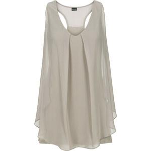 BODYFLIRT boutique Top mit Volant in grau für Damen von bonprix