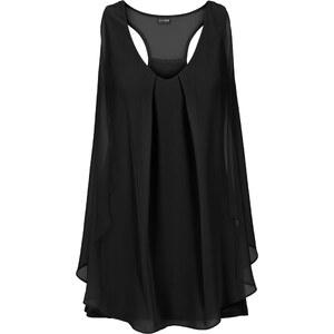 BODYFLIRT boutique Top mit Volant in schwarz für Damen von bonprix