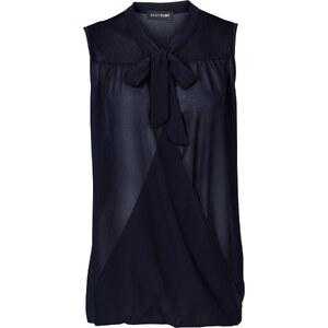 BODYFLIRT Chiffon-Bluse mit Schluppe ohne Ärmel in blau von bonprix