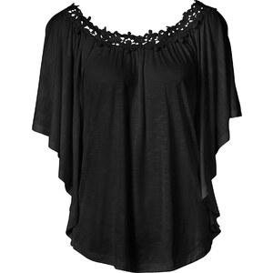 BODYFLIRT Fledermausshirt kurzer Arm in schwarz für Damen von bonprix