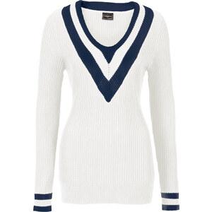 BODYFLIRT boutique Pullover langarm in weiß für Damen von bonprix