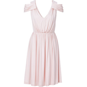 BODYFLIRT Jersey Kleid in rosa von bonprix