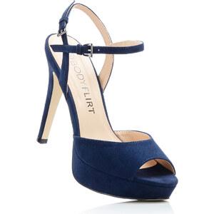 BODYFLIRT Sandalette mit 12 cm High-Heel in blau von bonprix