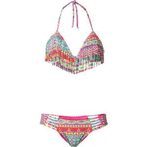 RAINBOW Neckholder Bikini mit Fransen (2-tlg. Set) in pink für Damen von bonprix