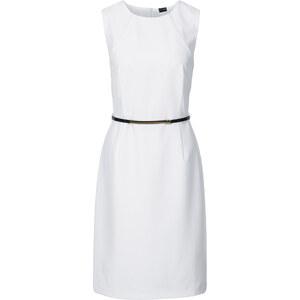 BODYFLIRT Kleid mit Gürtel ohne Ärmel in weiß von bonprix