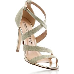 BODYFLIRT Sandalette mit 10,5 cm High-Heel in gold von bonprix
