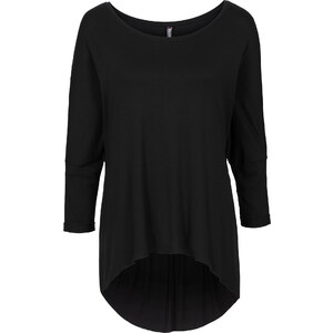 RAINBOW Oversize Shirt kurzer Arm in schwarz für Damen von bonprix