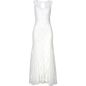BODYFLIRT Kleid in weiß (V-Ausschnitt) von bonprix