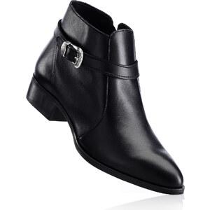 bpc selection Lederstiefelette in schwarz für Damen von bonprix