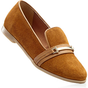bpc selection Lederslipper in braun von bonprix