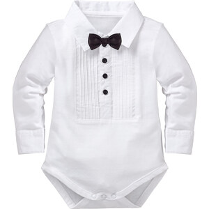 bpc bonprix collection Baby Langarmbody in weiß für Herren von bonprix