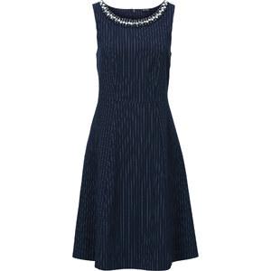 BODYFLIRT Kleid mit Perleneinsatz in blau von bonprix