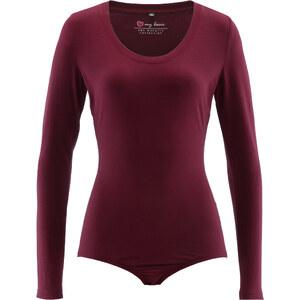 bpc bonprix collection Langarm Stretch-Body in rot für Damen von bonprix