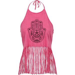 RAINBOW Top mit Fransen in pink für Damen von bonprix