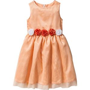 bpc bonprix collection Kleid mit Blumenapplikation ohne Ärmel in orange von bonprix