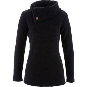bpc selection Flauschpullover langarm in schwarz für Damen von bonprix