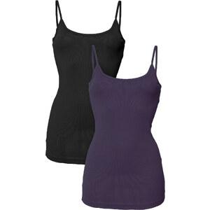 RAINBOW 2er-Pack Tops ohne Ärmel in lila für Damen von bonprix