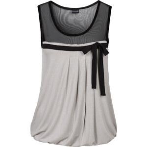 BODYFLIRT Shirttop ohne Ärmel in grau (Rundhals) für Damen von bonprix