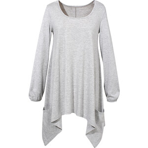 BODYFLIRT Langarmshirt in grau für Damen von bonprix