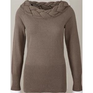 BODYFLIRT boutique Pullover langarm in braun für Damen von bonprix