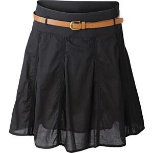 BODYFLIRT Rock inkl. Gürtel in schwarz für Damen von bonprix