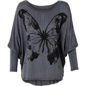 RAINBOW Shirt mit weiten Ärmeln langarm in grau für Damen von bonprix