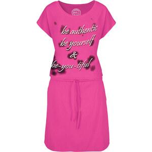 John Baner JEANSWEAR Kurzärmliges Shirtkleid/Sommerkleid kurzer Arm in pink von bonprix