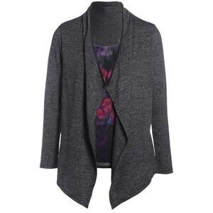 T-shirt 2 en 1 gilet à pans Noir Polyester - Femme Taille 1 - Bréal