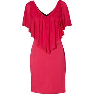 BODYFLIRT boutique Kleid/Sommerkleid kurzer Arm in pink von bonprix