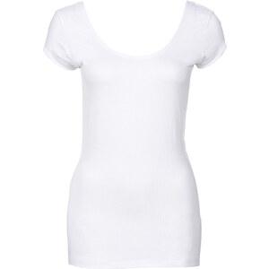 RAINBOW Shirt mit Rückendetail kurzer Arm in weiß für Damen von bonprix
