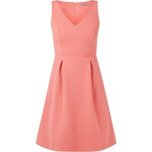 Montego Kleid mit Taillenpasse und Wabenstruktur