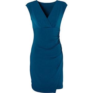 BODYFLIRT Kleid/Sommerkleid kurzer Arm in petrol (V-Ausschnitt) von bonprix