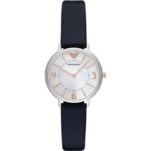 Emporio Armani Montres, Ladies Kappa Wristwatch Leather Navy en bleu