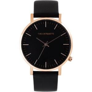 Thread Etiquette Classic Armbanduhr Roségoldfarben/Schwarz 288