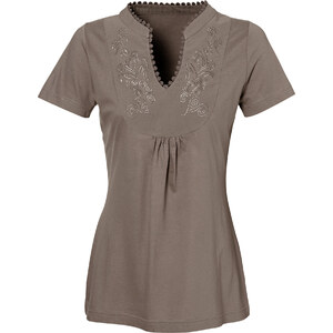 bpc bonprix collection Kurzarmshirt in braun für Damen von bonprix