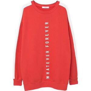 Mango WHATEVER Sweatshirt red