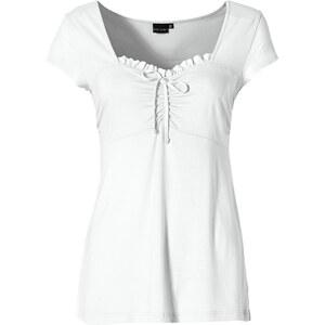 BODYFLIRT Shirt kurzer Arm in weiß für Damen von bonprix