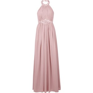 Luxuar Abendkleid mit Collierkragen