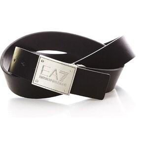 EA7 Ceinture plaque rectangulaire - noir