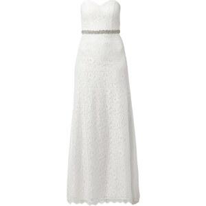 Unique Brautkleid aus floraler Spitze mit Schleier