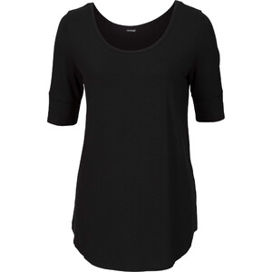 BODYFLIRT Shirt in schwarz (Rundhals) für Damen von bonprix
