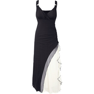 BODYFLIRT Shirtkleid ohne Ärmel in schwarz (V-Ausschnitt) von bonprix